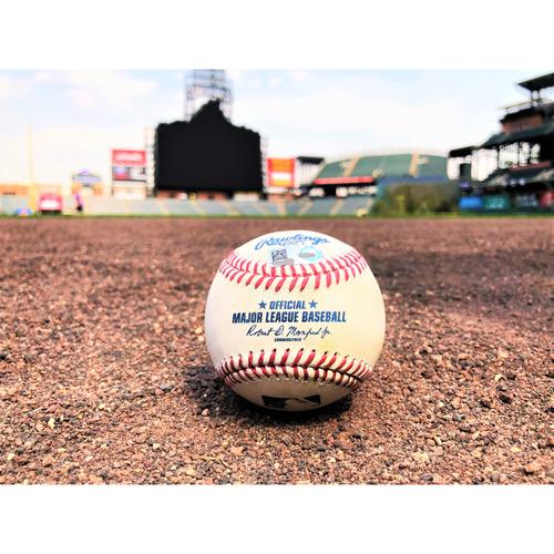 Photo of Colorado Rockies Player-Collected Baseball - Pat Valaika - Home Run - 7-5-17