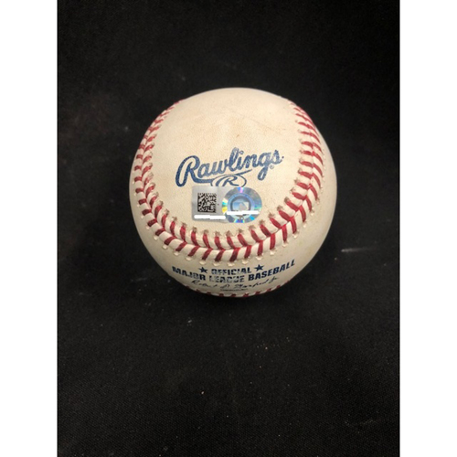 Photo of Christian Yelich Hits for Cycle -- Game-Used Baseball -- 4th Inning -- Peralta to Schebler (Foul Ball) -- Yelich Goes 6-for-6, Hits for the 8th Cycle in Brewers History -- 08/29/2018 -- MIL vs. CIN