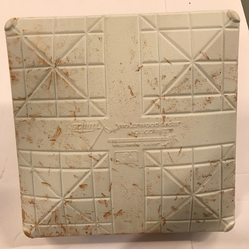 Photo of Game-Used Base - NLDS Game 4, 10/8/18 - 1st Base used during the 3rd Inning