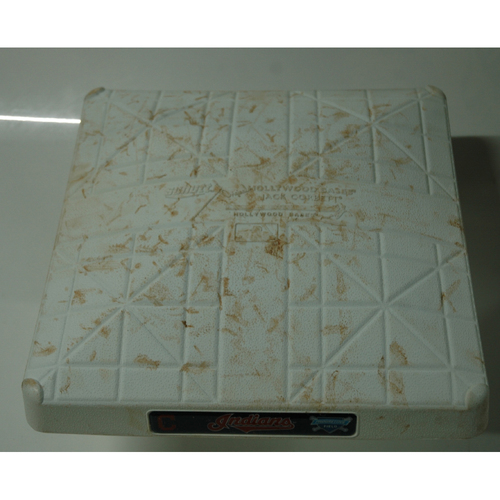 Photo of Game-Used Base: Indians Clinch Third straight AL Central Division Title - 9/15/18