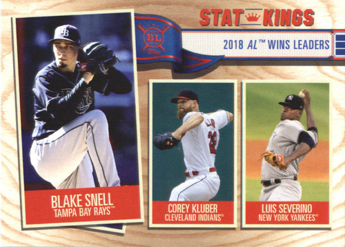 Photo of 2019 Topps Big League #365 Luis Severino/Corey Kluber/Blake Snell