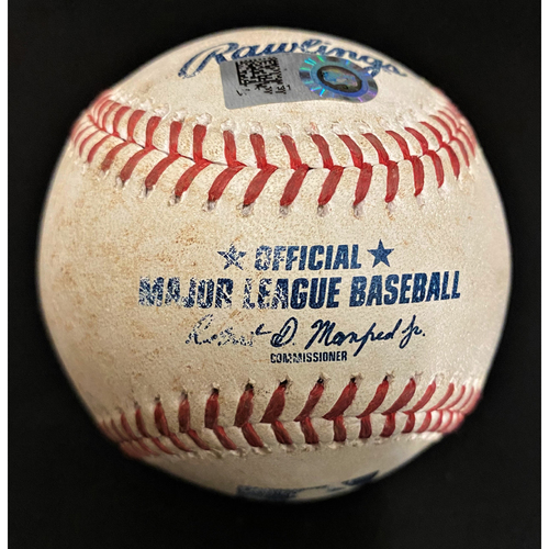 Photo of Game-Used Baseball:  Shogo Akiyama Cincinnati Reds Single (MLB AUTHENTICATED)