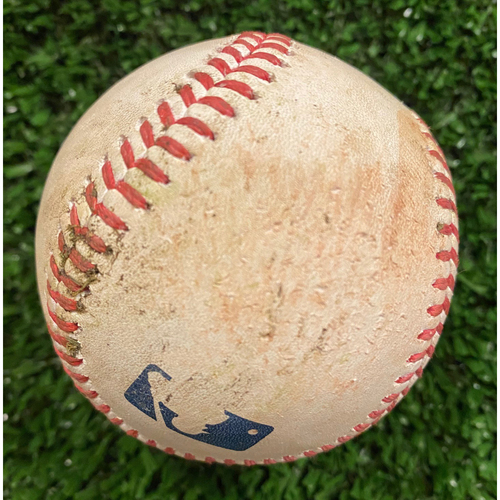 Photo of Nick Castellenos Game Used Hit Double Baseball, Darren O'Day pitched - September 30, 2020 - Wild Card Game 1