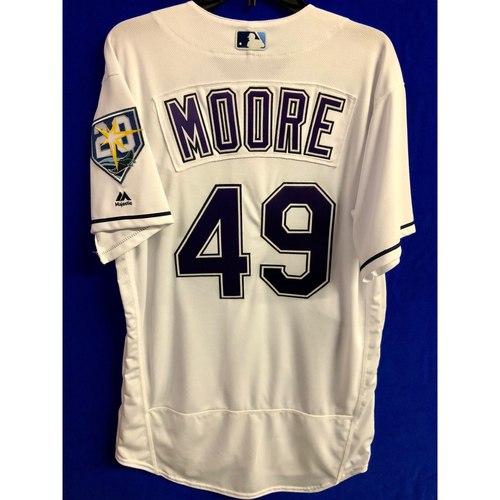 Photo of Team Issued 20th Anniversary Devil Rays Jersey: Moore #49