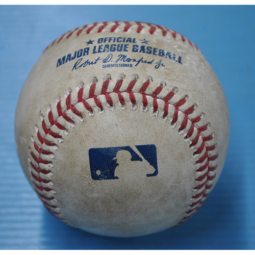 Photo of Game-Used Baseball - 7/29/2020 - MIL @ PIT - Pitcher - Joe Musgrove, Batter - Keston Hiura, Top 6, Home Run