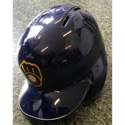 Photo of Lorenzo Cain 2019 Game-Used Batting Helmet (Opening Day 03/28/19 & 500 Career Runs Scored Game 04/12/19)