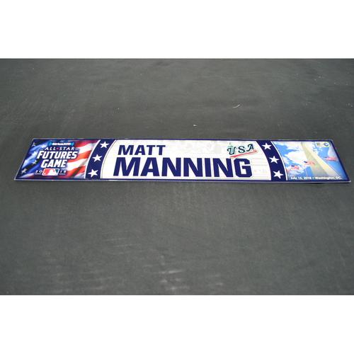 Photo of Game-Used Locker Name Plate - 2018 Futures Game (7/15/2018) - Matt Manning