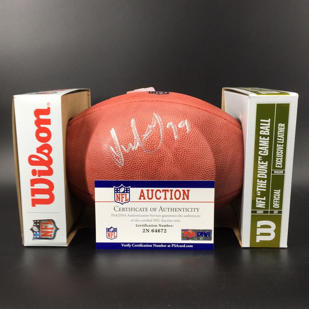 NFL - Broncos Jurrell Casey Signed Authentic Football W/ 100 Seasons Logo