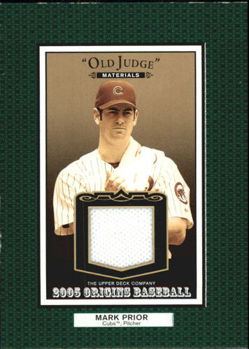 Photo of 2005 Origins Old Judge Materials Jersey #MP Mark Prior