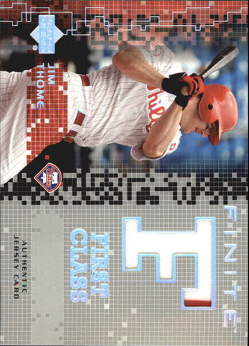 Photo of 2003 Upper Deck Finite First Class Game Jersey #JT Jim Thome