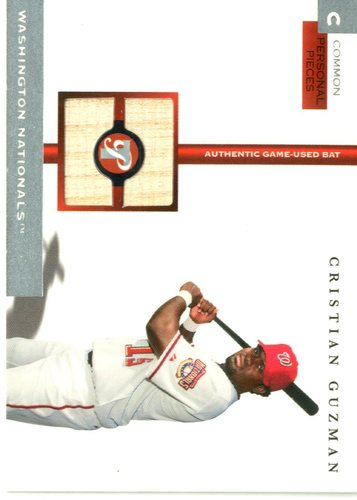 Photo of 2005 Topps Pristine Personal Pieces Common Relics #CG Cristian Guzman Bat