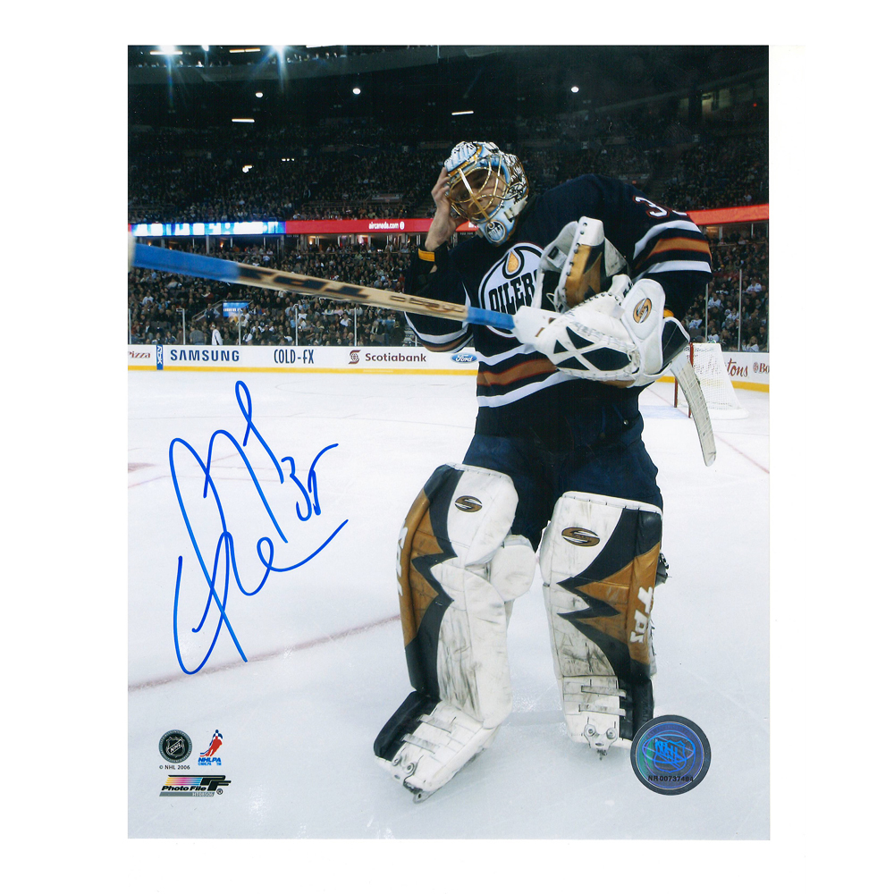 DWAYNE ROLOSON Signed Edmonton Oilers 8 X 10 Photo - 70418