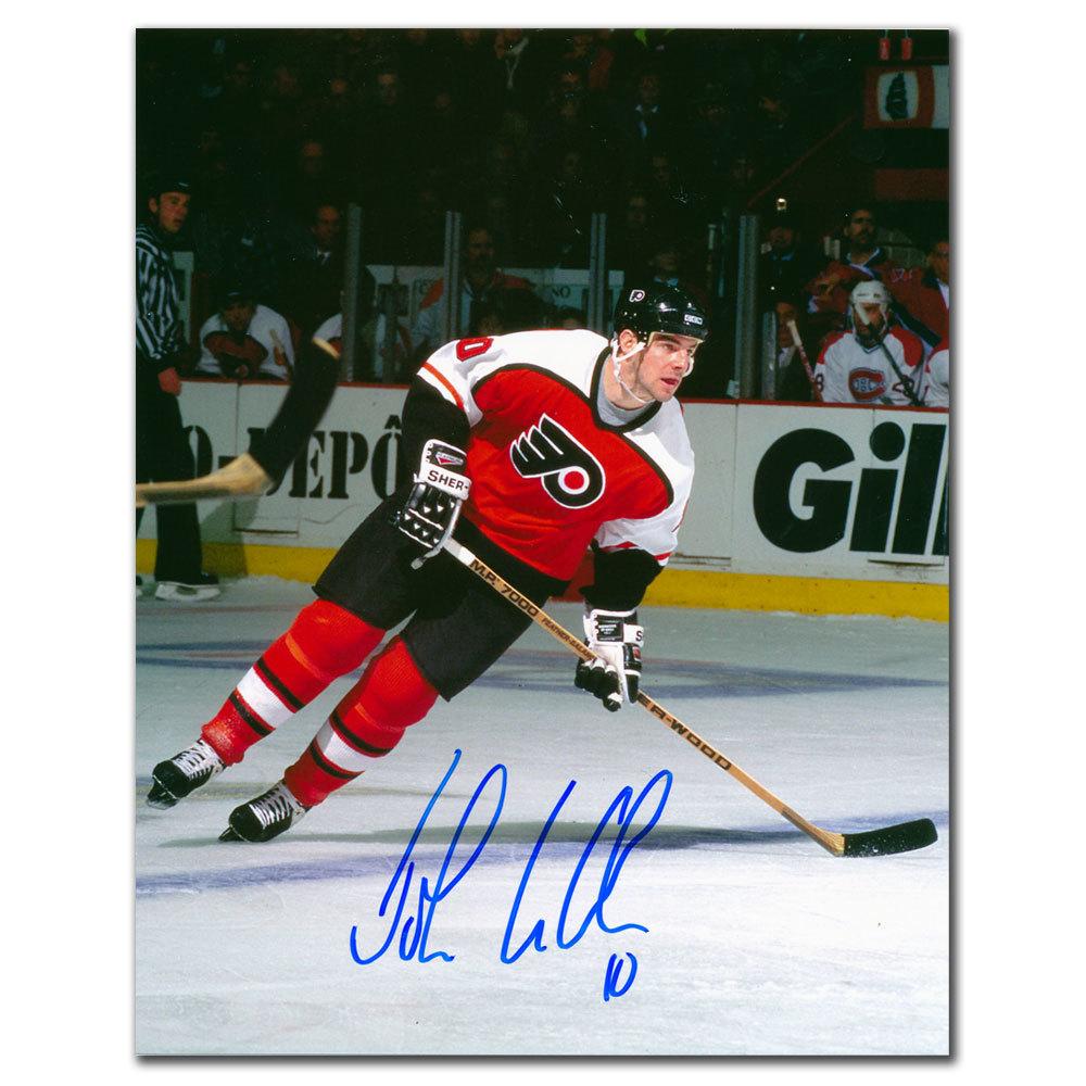 John LeClair Philadelphia Flyers Autographed 8x10