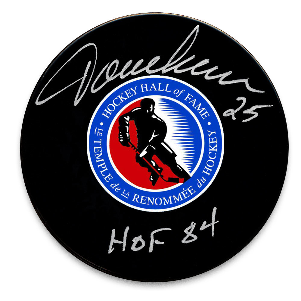 Jacques Lemaire Hockey Hall of Fame HOF Autographed Puck