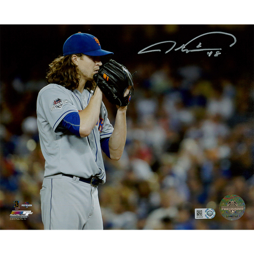 Photo of Jacob deGrom - Autographed 8X10 Postseason Photo