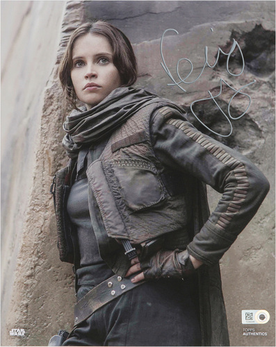 Felicity Jones as Jyn Erso Autographed Silver Ink 16x20 Photo