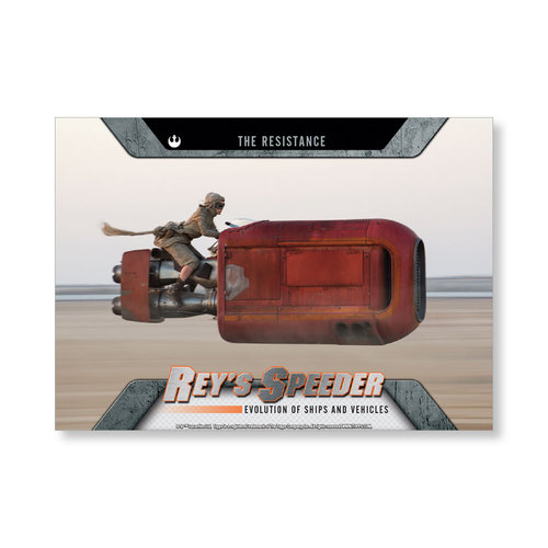 2016 Star Wars Evolution Rey's Speeder EVOLUTION OF VEHICLES AND Ships Poster - # to 99