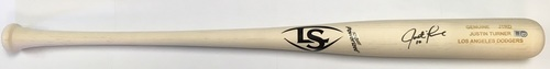 Photo of Justin Turner Autographed Game Model Louisville Slugger Bat