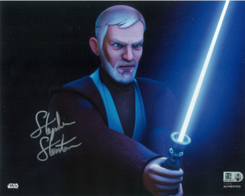 Stephen Stanton as Obi-Wan Kenobi 8x10 Autographed in Silver Ink Photo
