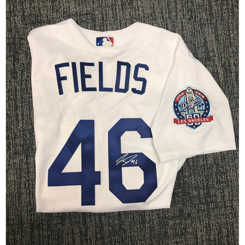 Photo of Kirk Gibson Foundation Auction: Josh Fields 2018 Game-Used Autographed Los Angeles Dodger Jersey