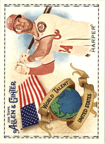 Photo of 2018 Topps Allen and Ginter World Talent #WT47 Bryce Harper