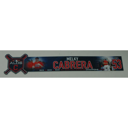 Photo of Melky Cabrera Game-Used 2018 ALDS Locker Name Plate - Game 3 - 10/8/18