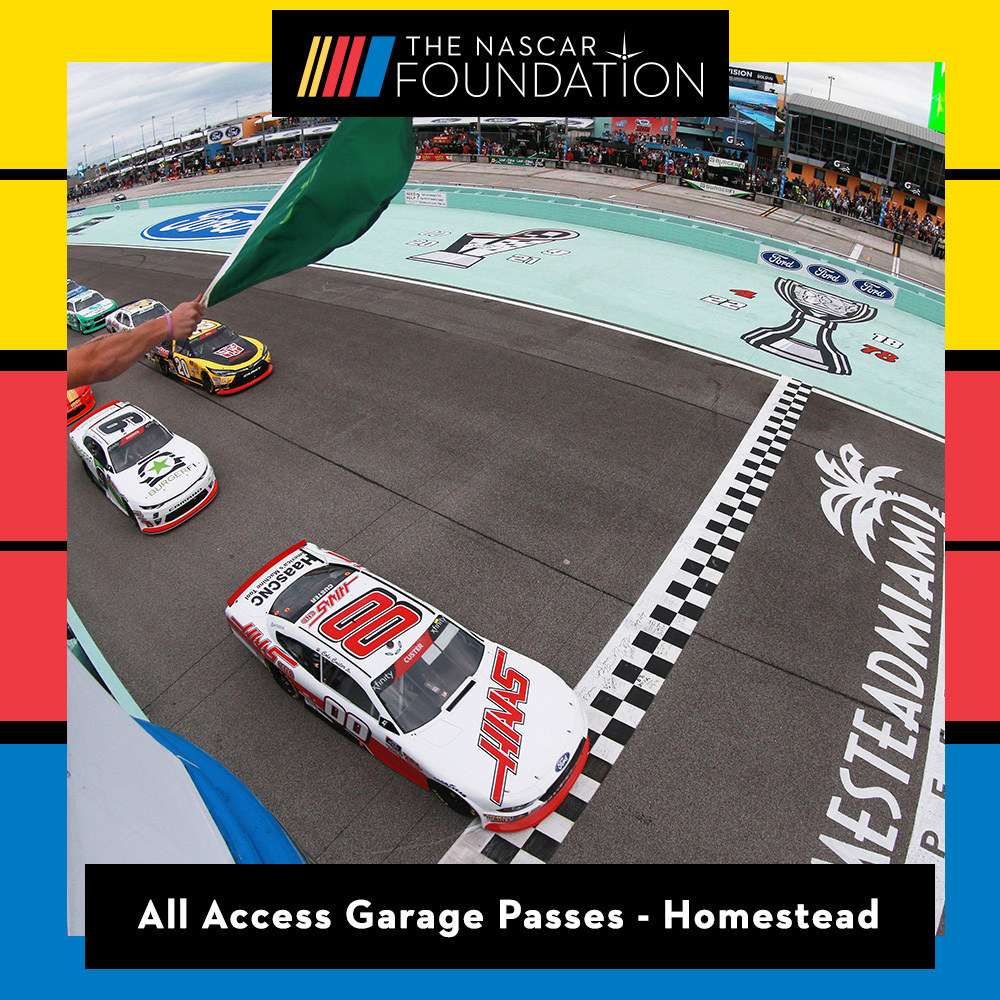 Two All Access NASCAR Garage Passes at Homestead-Miami Speedway!
