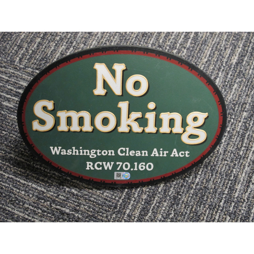 "Photo of ""No Smoking, Washington Clean Air Act"" - Approximately 7""X11"""