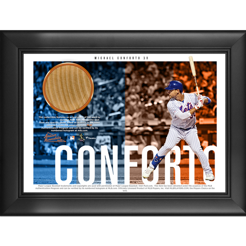 Photo of Michael Conforto Game-Used Bat Plaque