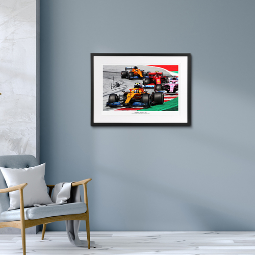 Photo of Lando Norris 2020 Austrian Grand Prix Signed Photo (No.1 edition)