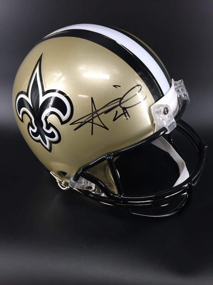 NFL - Saints Alvin Kamara Signed Proline Helmet