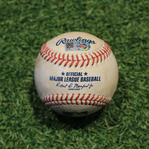 Photo of Game-Used Baseball: Eddie Rosario 711th Career Hit (MIN @ KC 8/23/20)