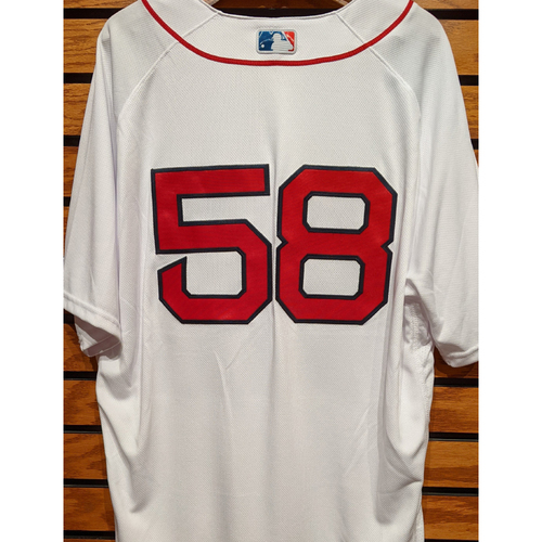 Photo of Coach Andy Barkett #58 Team Issued Home White Jersey
