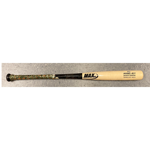 Photo of 2020 Game Used Broken Bat used by #35 Brandon Crawford on 7/21 vs. OAK (Summer Camp 2020 Game) - Broken in the Bottom of the 6th
