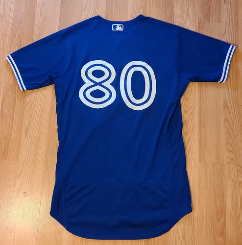 Photo of Authenticated Game Used Spring Training Jersey: #80 Austin Martin (Mar 28, 2021: 0-for-2). Size 42.