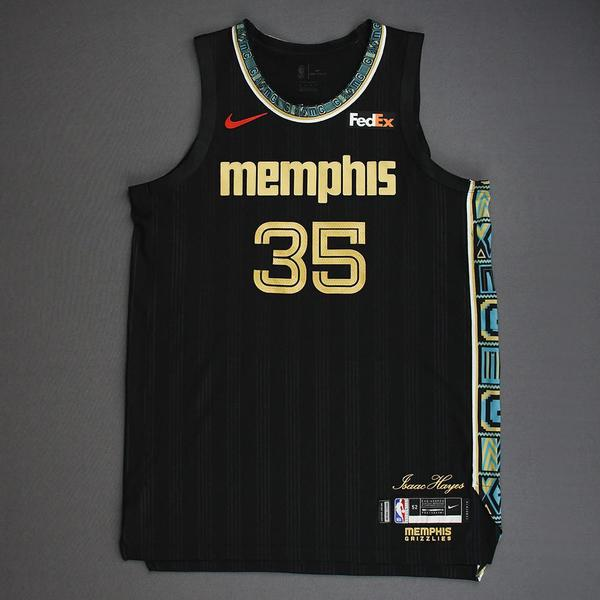 Image of Killian Tillie - Memphis Grizzlies - Game-Worn City Edition Jersey - Dressed, Did Not Play (DNP) - 2021 NBA Playoffs