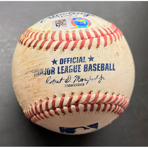 Photo of Game-Used Baseball:  Robbie Grossman Detroit Tigers Single off Gerrit Cole (MLB AUTHENTICATED)