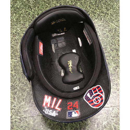 Photo of Avisail Garcia 2021 Game-Used Batting Helmet (06/03/21 - 1-3, HR)
