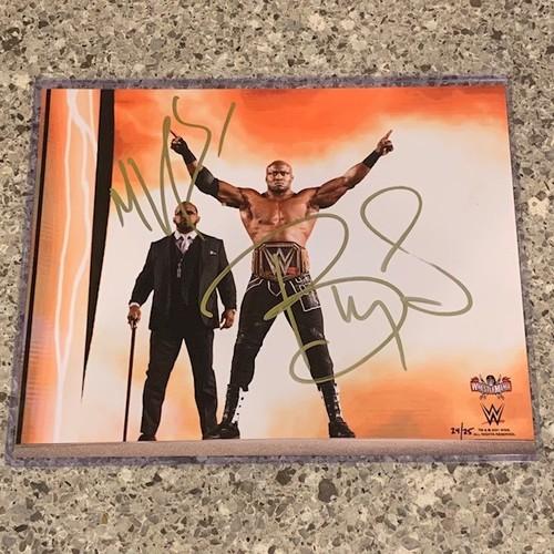 Photo of Bobby Lashley and  MVP SIGNED WrestleMania 37 8x10 Photo Gold Signature (Random Number)