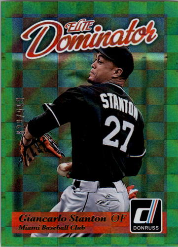 Photo of 2014 Donruss Elite Dominator #11B Giancarlo Stanton