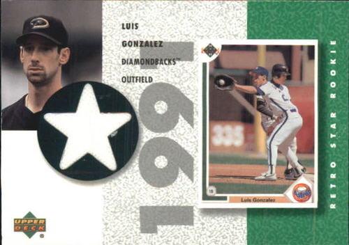 Photo of 2002 UD Authentics Retro Star Rookie Jerseys #SRLG Luis Gonzalez