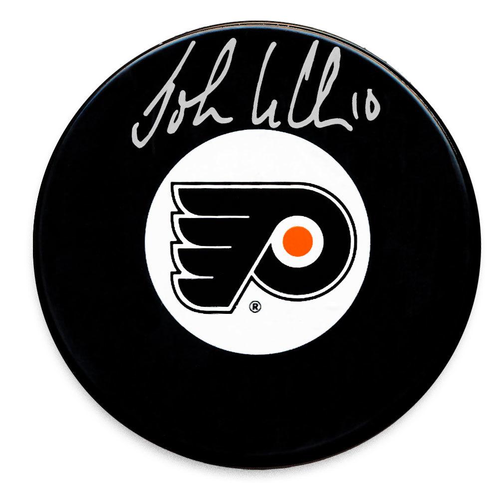John Leclair Philadelphia Flyers Autographed Puck