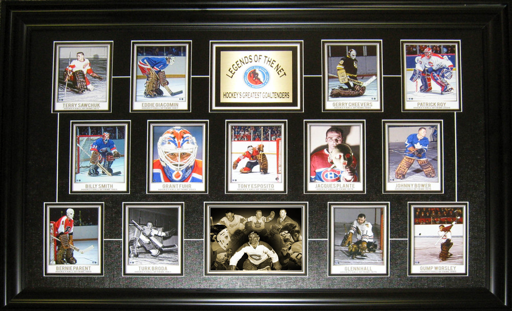 Goalie Legends Collage Print Framed