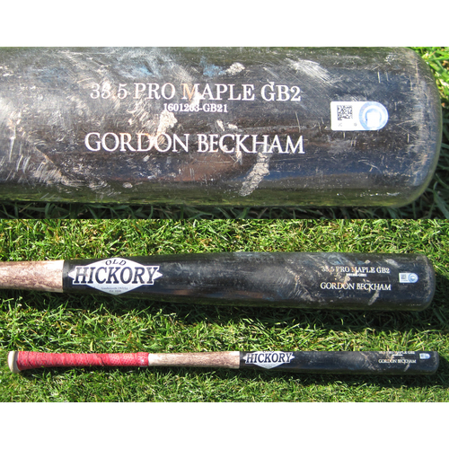 San Francisco Giants - Team Issued Broken Bat - Spring Training - Gordon Beckham - 3/11/17