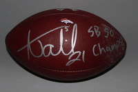 STS - BRONCOS AQIB TALIB SIGNED AND GAME USED FOOTBALL W/ STS LOGO (NOVEMBER 27, 2016)