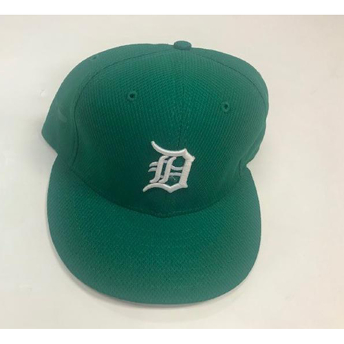 Game-Used 2016 Ed Hodge St. Patrick's Day Cap