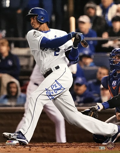 Photo of Alcides Escobar Autographed 16x20 Photo (Batting)