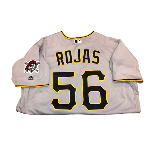 Photo of Euclides Rojas Game-Used Road Gray Jersey