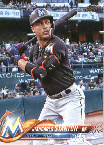 Photo of 2018 Topps #100 Giancarlo Stanton