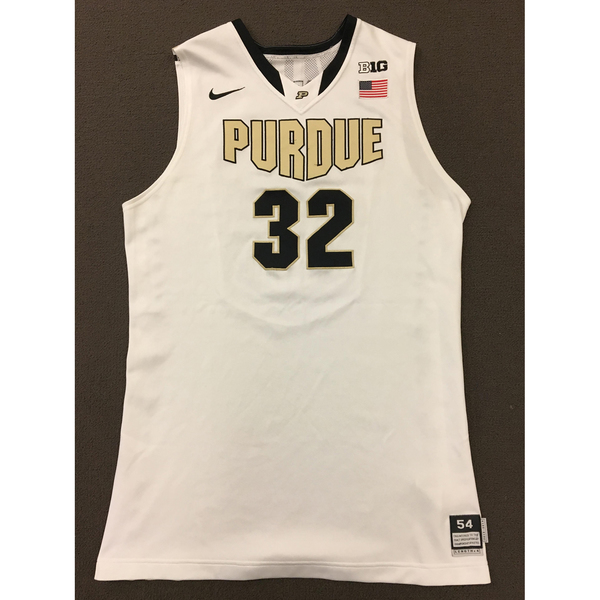 Photo of Errick Peck #32 Purdue Men's Basketball 2013-14 White Jersey